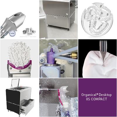 Organical Desktop 8S Compact dentale Fräsmaschine